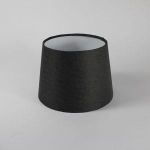 Dark Grey Herringbone French Drum Floor Lampshade White Inner