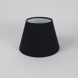 Dark Navy Empire Floor Lampshade White Inner