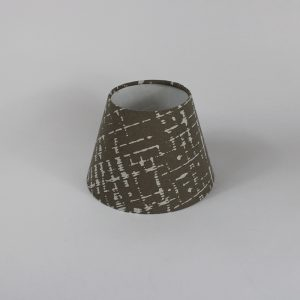 Beige Dash Floor Empire Lampshade White Inner