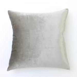 Dove Grey Velvet Cushion