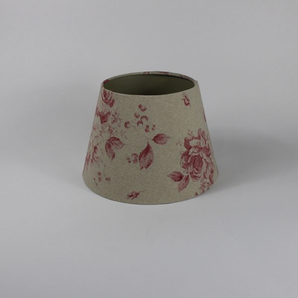 Red Faded Rose Floor Empire Lampshade Champagne Inner