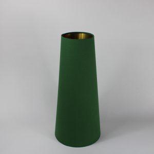 Dark Green Tall Tapered Floor Lampshade Gold Inner