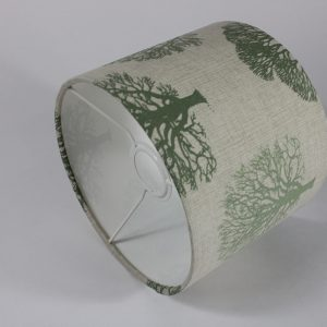 Green Trees Ceiling Drum Lampshade White Inner