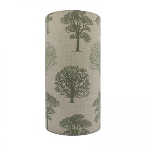 Green Trees Tall Drum Lampshade
