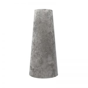 Grey Crushed Velvet Tall Tapered Lampshade