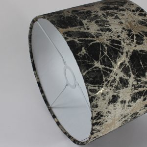 Charcoal Lava Drum Lampshade White Inner