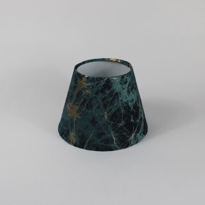 Teal Lava Empire Floor Lampshade White Inner