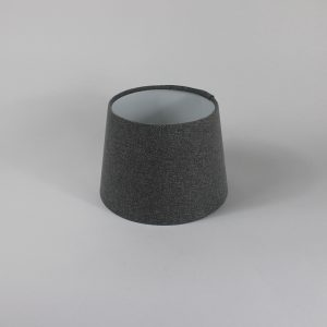 Light Grey Wool French Drum Floor Lampshade Gold Inner