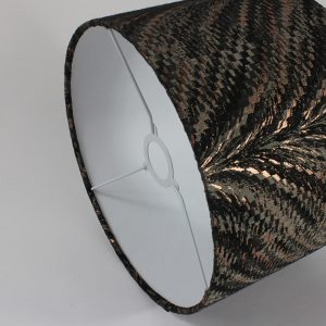 Bronze Luxor Drum Lampshade White Inner