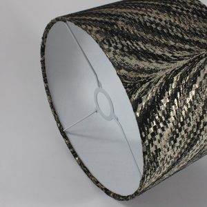 Charcoal Luxor Drum Lampshade White Inner