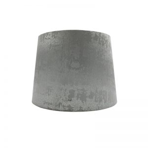 Mercury Dove Grey Velvet French Drum Lampshade