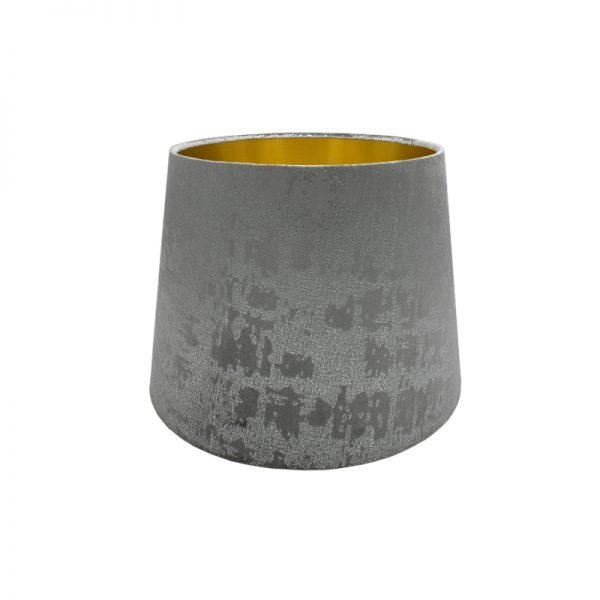 Mercury Dove Grey Velvet French Drum Lampshade
