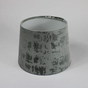Mercury Dove Grey Velvet French Drum Lampshade White Inner