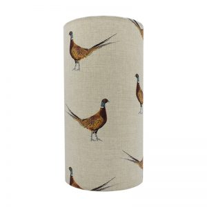 Mr Pheasant Tall Drum Lampshade