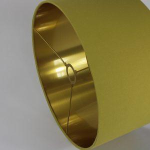 Mustard Yellow Drum Lampshade Gold Inner