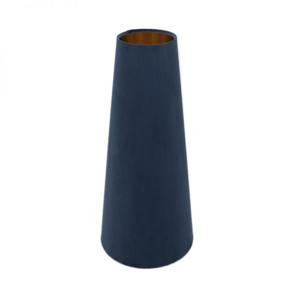 Navy Blue Velvet Tall Tapered Lampshade