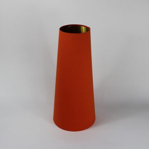 Bright Orange Tall Tapered Floor Lampshade Gold Inner 25cm Dia x 55cm h
