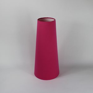 Bright Pink Tall Tapered Floor Lampshade White Inner