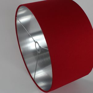 Red Drum Lampshade Silver Inner