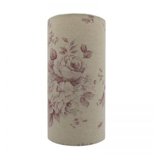 Red Faded Rose Tall Drum Lampshade