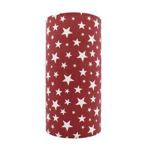Red Stars Tall Drum Lampshade