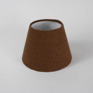 Rust Herringbone French Drum Floor Lampshade White Inner
