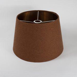 Rust Herringbone French Drum Ceiling Lampshade Copper Inner