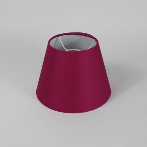 Bright Pink Satin Empire Ceiling Lampshade White Inner