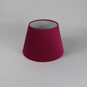 Bright Pink Satin Empire Floor Lampshade White Inner