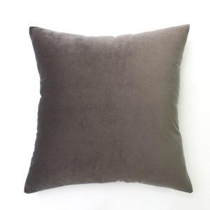 Slate Grey Velvet Cushion