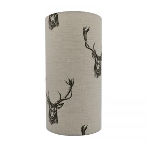 Stag Head Tall Drum Lampshade