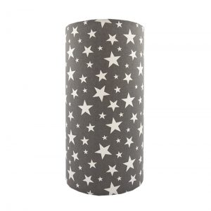Grey Stars Tall Drum Lampshade