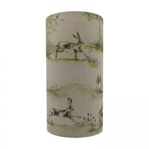Voyage Boxing Hares Tall Drum Lampshade
