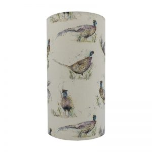 Voyage Dashing Pheasant Tall Drum Lampshade