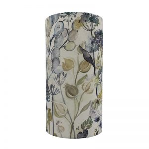 Voyage Hedgerow Blue Tall Drum Lampshade