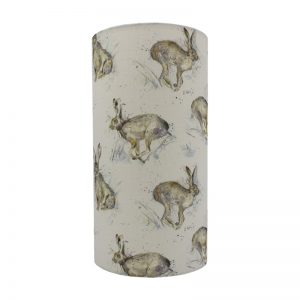 Voyage Hurtling Hare Tall Drum Lampshade