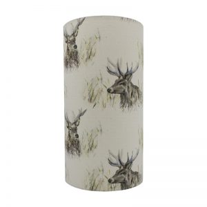 Voyage Wallace Stag Tall Drum Lampshade
