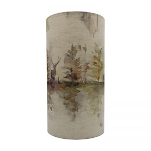 Voyage Wilderness Plum Tall Drum Lampshade