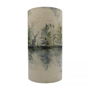 Voyage Wilderness Topaz Tall Drum Lampshade