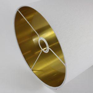 White Drum Lampshade Gold Inner