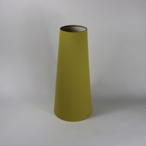 Mustard Yellow Tall Tapered Floor Lampshade White Inner