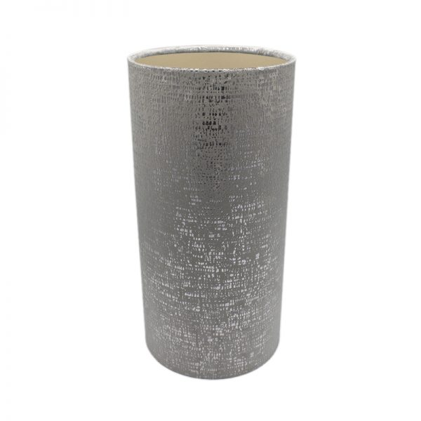 Zinc Velvet Tall Drum Lampshade