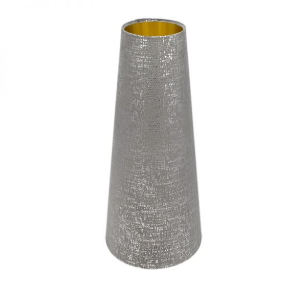 Zinc Velvet Tall Tapered Lampshade