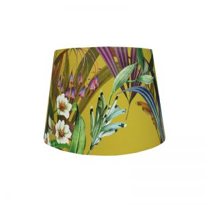 Josie Ochre French Drum Lampshade