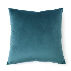 Teal Velvet Square Cushion