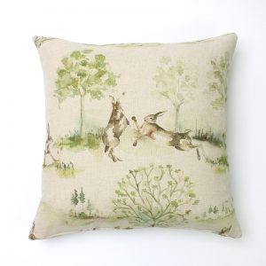 Voyage Boxing Hares Square Cushion