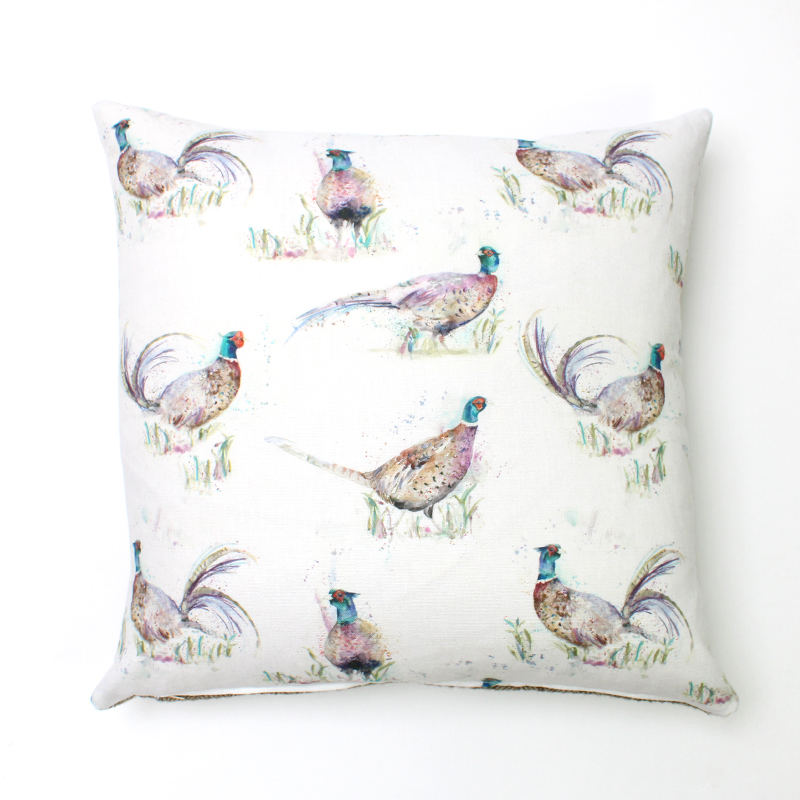 Voyage Dashing Pheasant Square Cushion