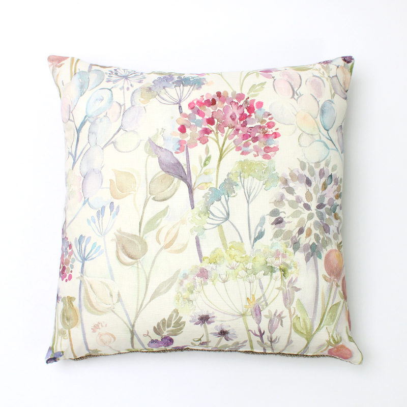 Voyage Hedgerow Pink Square Cushion