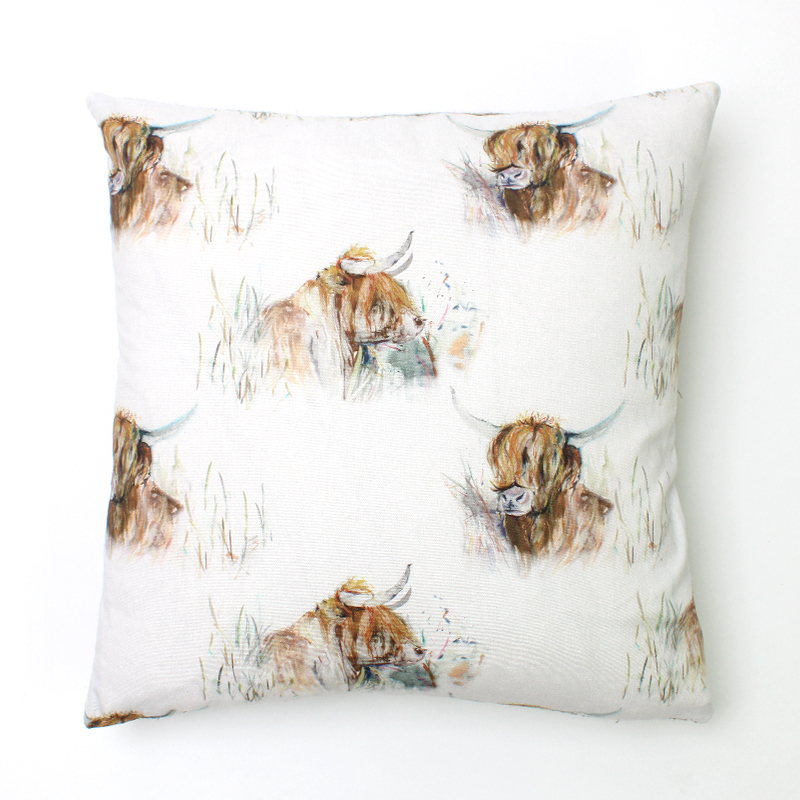 Voyage Highland Cattle Square Cushion