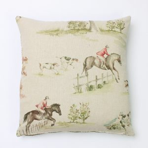 Voyage Horse and Hound Square Cushion